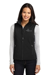 Ladies Black Vest with Blackout Logo - SMALL